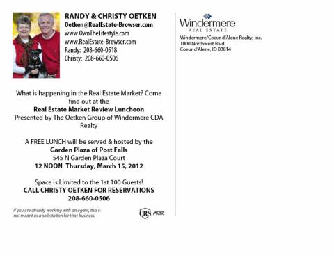 Please Join Us For Lunch Oetkens Presenting The Windermere Market