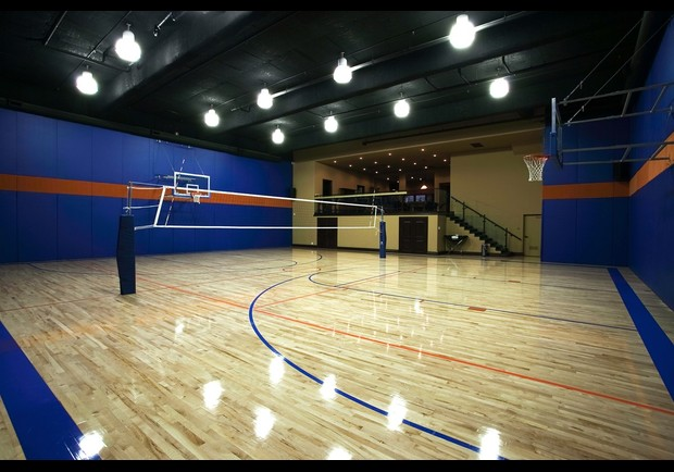Expensive real estate listings in the usa homes with for Indoor basketball court installation